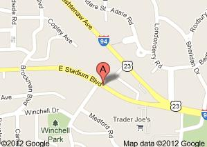Map of 2311 E. Stadium Blvd., Ste. 212-2, Ann Arbor, MI  48104